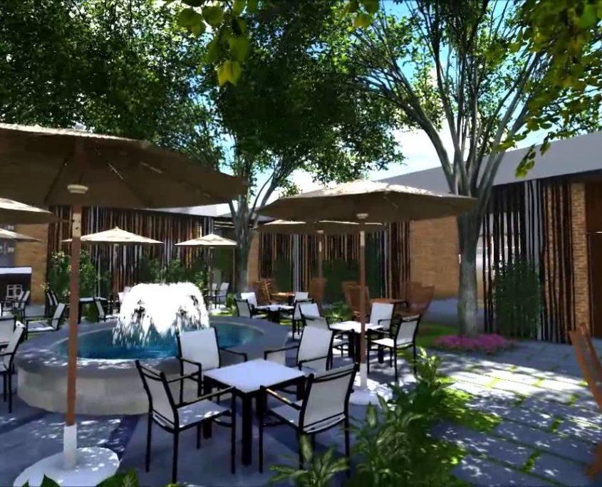 thiết kế quán cafe sân vườn3